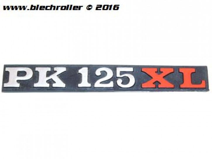 """Schriftzug """"PK 125 XL"""", Seitenhaube und Gepäckfach"""