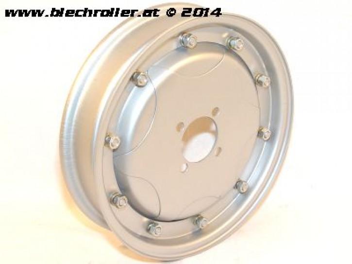 """Felge Sternmuster 10"""" - Grau, Vespa 150 GS VS1-4/VD1T/VD2T oder Umrüstfelge 8"""" auf 10"""", geschlossen"""