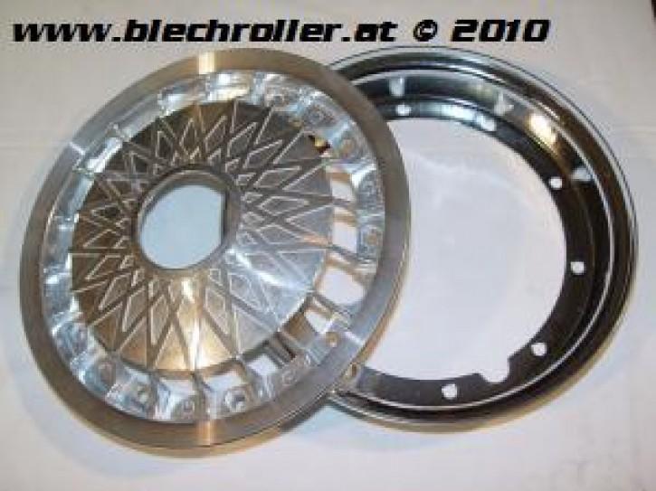 Felge CERES Aluminium/Chrom für alle Vespa 10 Zoll