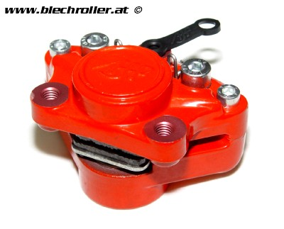 Bremssattel OEM hinten 25mm rot Derbi Senda DRD, GPR bis 2005, Bultaco Lobito