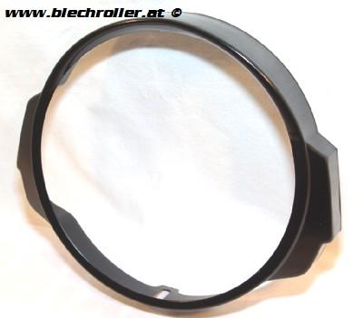 Scheinwerferzierringe Vespa PX80-200/PE/Lusso - Schwarz