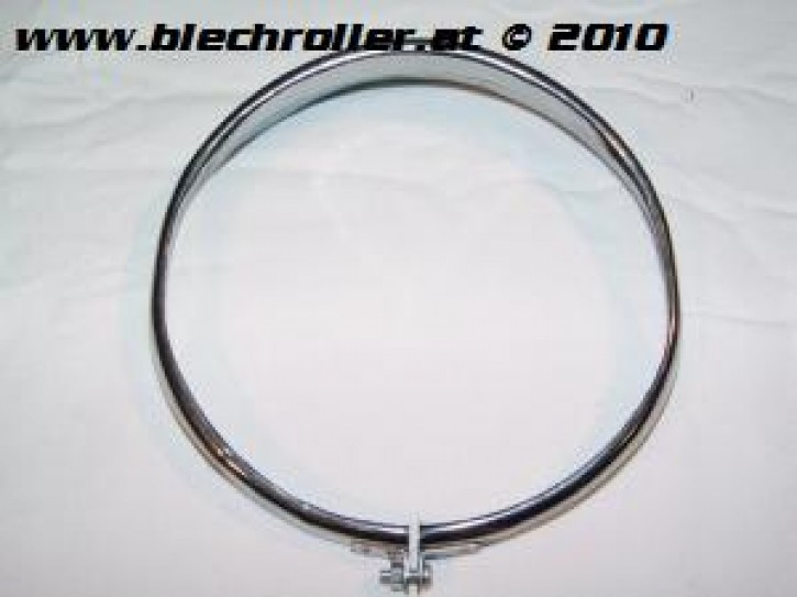 Scheinwerferzierringe CRABOR für Vespa PV/ET3/150 Super '66-'69 - Chrom