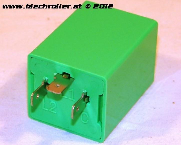 Blinkrelais für Vespa PX o. Batterie/PX Lusso/Elestart /T5/Cosa /PK/XL/ XL2/ V50 mit 4-Blinker/PV