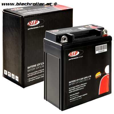 Batterie 12V/5,5Ah 12N5-3B / YB5L-B - vorgeladen/betriebsbereit