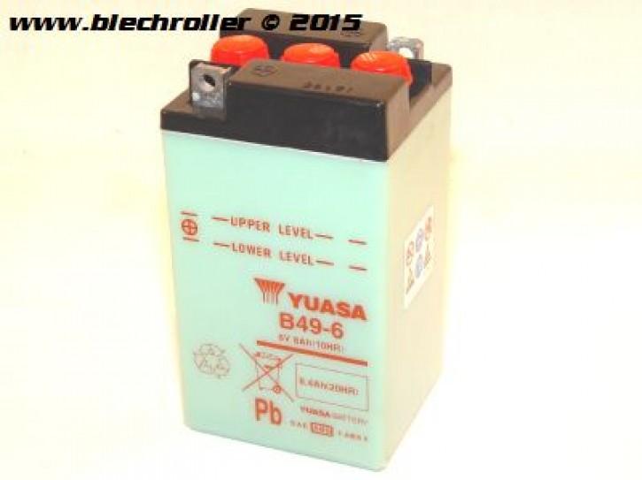 Batterie 6V/8Ah für Vespa 150 VL2T/160 GS VSB1T/180 SS/180-200 Rally
