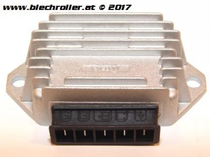 Spannungsregler RMS für Vespa PK50XL/N/Rush/PX125-200 E `98/MY/`11/Cosa/T5, 5 Anschlüsse - mit Batterie