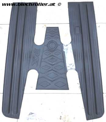 Fußmatte Vespa PX80-200/PE/Lusso/`98/MY/`11 - schwarz