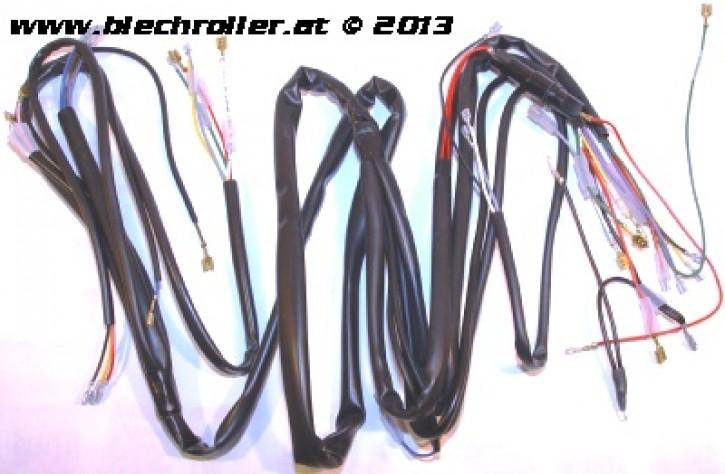 Kabelbaum GRABOR für Vespa P80-150X /PX80-200E/ Lusso 1/P200E, mit Batterie, mit Blinker