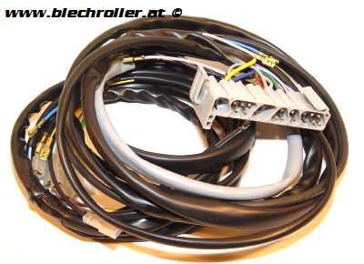 Kabelbaum für Vespa PK50-125 S, mit Blinker, ohne Batterie, mit Kombistecker