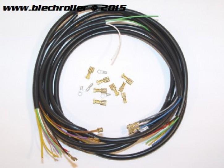 Kabelbaum für Vespa 50 N/L/R mit Fern-/Abblend- und Bremslicht