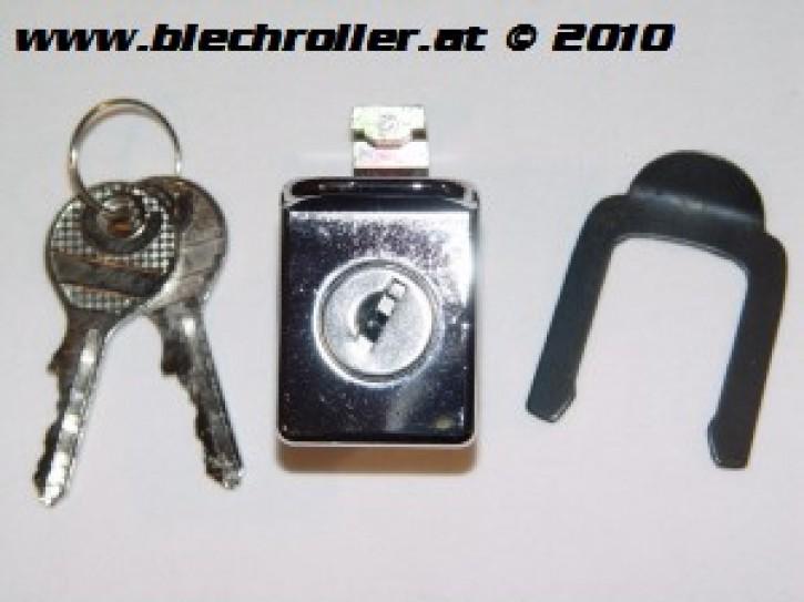 Schloss Gepäckfach für Vespa 50-125 PV/ET3/P80-150X/PX 80-200E/P200E/Super/Rally/180 S - Chrom