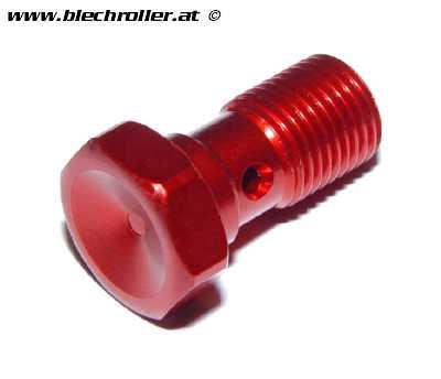 Hohlschraube SPIEGLER M10x1 mm, Aluminium - Rot eloxiert