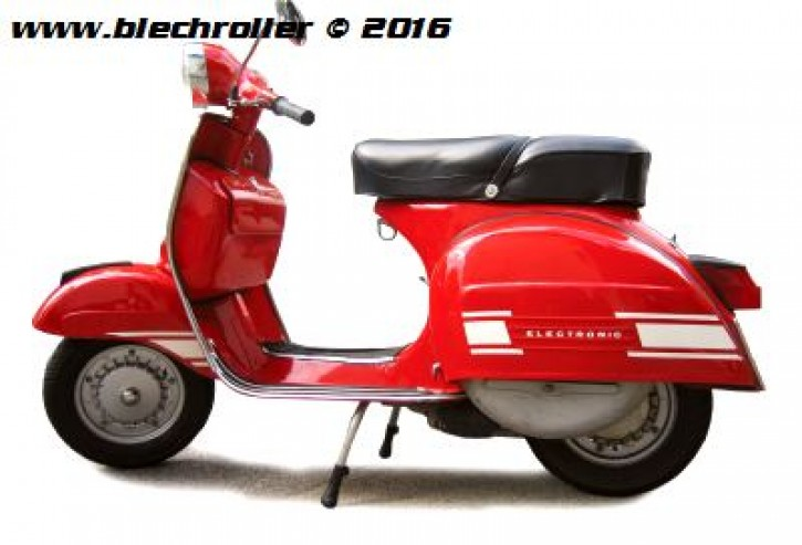 "Aufkleberdekorset ""Electronic"" Vespa Rally 180/200 - weiß"