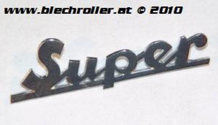 """Schriftzug """"Super"""" Vespa 125/150 chrom Beinschild"""