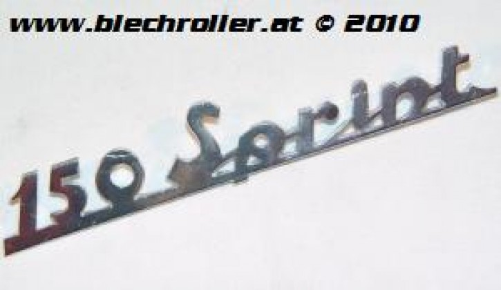 "Schriftzug ""150 Sprint"" chrom, Heck/schräg"
