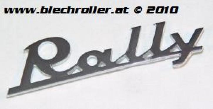 """Schriftzug """"Rally"""" 180 chrom, Beinschild"""