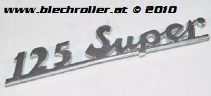 "Schriftzug ""125 Super"", chrom, Heck/schräg"