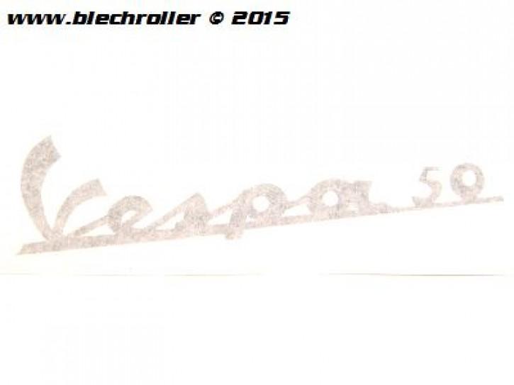 """Schriftzug """"Vespa 50"""" Beinschild für Vespa 50 N - Selbstklebend"""