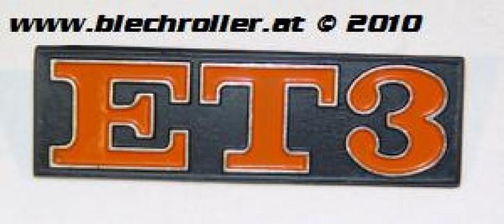 """Schriftzug """"ET3"""", Heck"""
