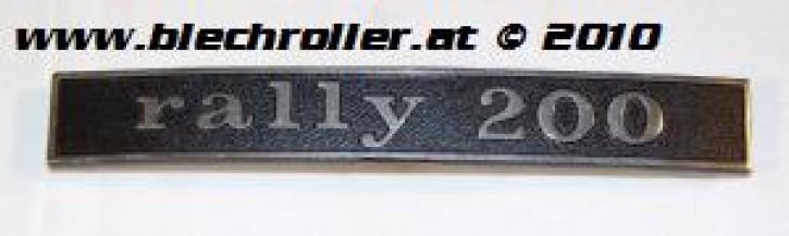 """Schriftzug """"rally 200"""", Heck"""