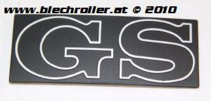 """Schriftzug """"GS"""", Seitenhaube"""