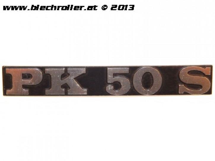 """Schriftzug """"PK 50S"""", Seitenhaube"""