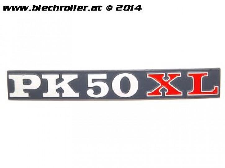"""Schriftzug """"PK 50 XL"""", Seitenhaube"""