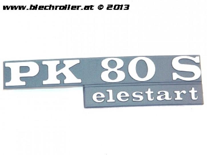 "Schriftzug ""PK80S elestart"", Seitenhaube"