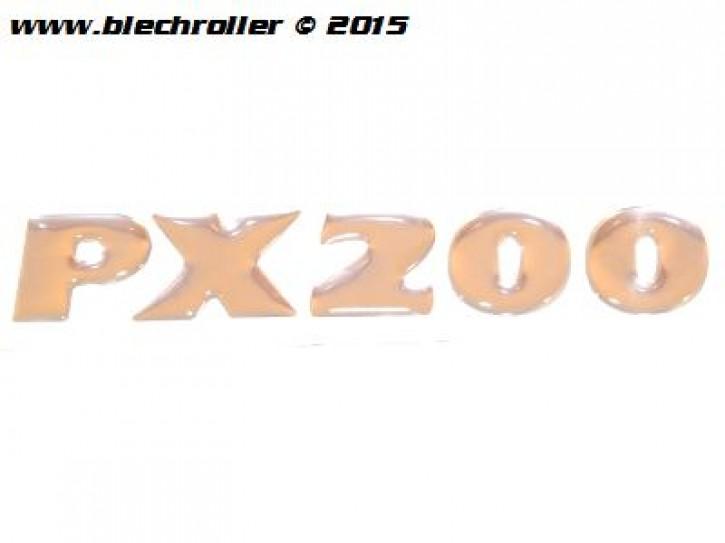 """Schriftzug """"PX200"""" Milenium, Seitenhaube"""