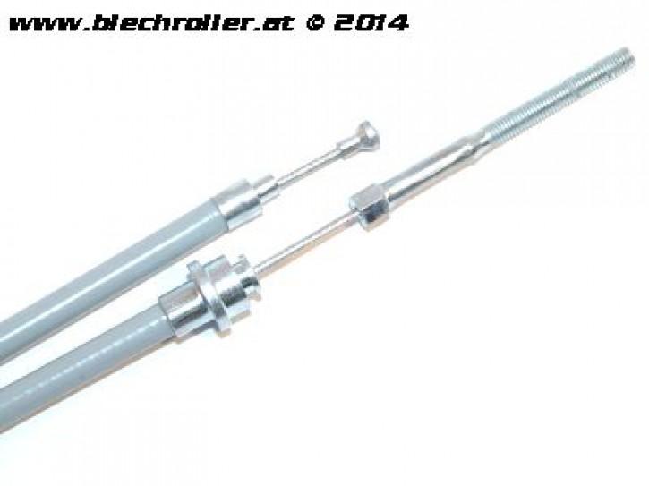 Seilzug Bremse, vorne mit PTFE(Teflon)-Hülle und Pilznippel für Vespa PK50-80 S/Lusso/ PX80-200/PE /Lusso/98/MY/T5