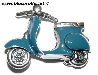 Gürtelschnalle Motiv Vespa Motorroller - Farbe: Petrol