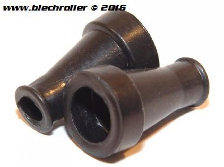 Gummi Kabelkästchen für Vespa V50-125 PV/ET3/VNA-TS/150 VBA-T4/Rally/PX/PE - Paar