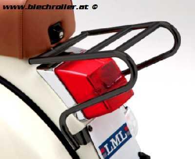 Kofferträger/Gepäckträger hinten klein für Vespa PX/PE/Lusso/T5 /LML Star - Schwarz