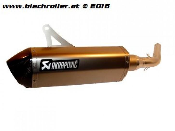"""* Rennauspuff AKRAPOVIC """"SLIP-ON"""", für Vespa GTS/GTS Super/GTV/GT 60 125-300ccm, i.e. V4A"""