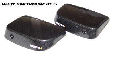 Abdeckung-Satz Hauptbremszylinder/ohne Spiegellöcher BGM PRO für Vespa GT/GTS - Carbon Optik