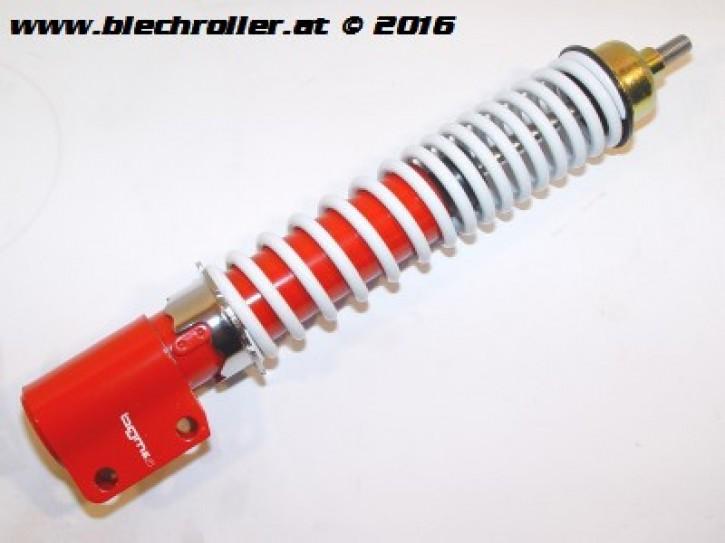 Stoßdämpfer vorne BGM PRO verstellbar für Vespa P80-150X /P200E /PX80-200E /Lusso/T5 - Rot/Weiß, ohne Abdeckkappe