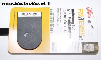 """FixitEasy §57a (Pickerl) Prüfplakettehalter """"BRIXTON"""