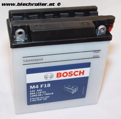 Batterie 12V/5Ah BOSCH 12N5-3B bzw. YB5L-B