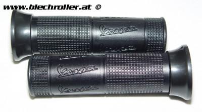 Griffe PIAGGIO mit Vespa Schriftzug Vespa GT/GTL/GTS 125-300ccm - Ring und Griff Schwarz