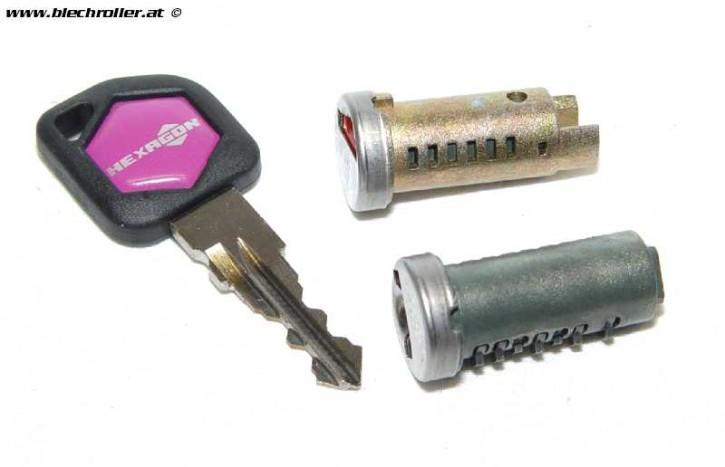 Schließzylinder SET Vespa PK50-125/S/XL/XL2/Automatica/PX80-200/PE/Lusso/98/MY/`11/T5/Cosa - mit 2 Schließzylinder - Restposten
