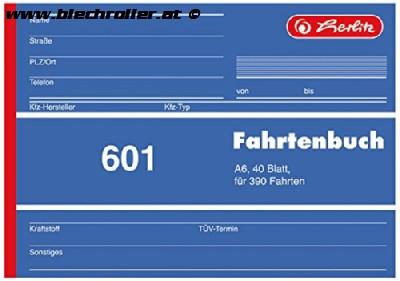 Fahrtenbuch A6 von Herlitz - 40 Blatt für 390 Ausfahrten