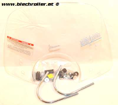 Windschild PIAGGIO CRUISER klar für Vespa GTS/GTS Super/GT/GT L 125-300ccm