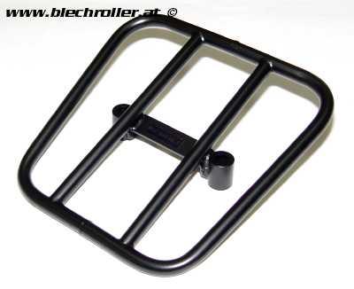 Gepäckträger hinten klein schwarz matt für Lambretta V-Serie