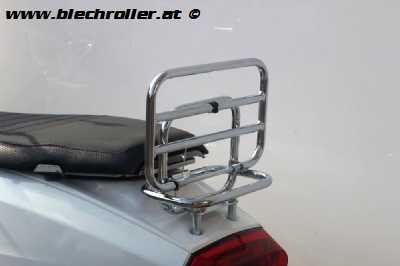 Gepäckträger hinten klappbar chrom für Lambretta V-Serie
