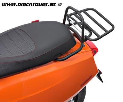 Gepäckträger hinten klappbar Schwarz für Lambretta V-Serie