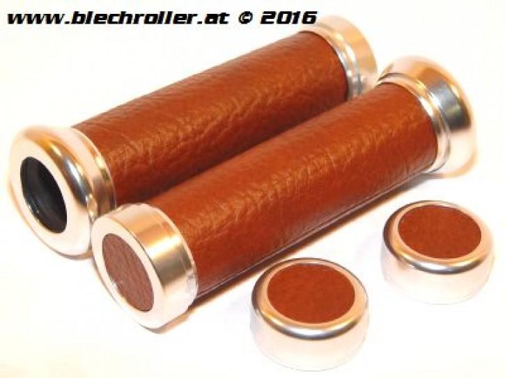Griffe für Vespa ET2/ET4/LX/LXV/S/Primavera/Sprint 50-150ccm - Kunstleder - Dunkelbraun