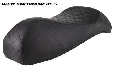 Sportsitzbank Black Edition für Vespa GTS/GTS Super/GTV/GT 60/GT/GT L 125-300ccm (`03-`13) - Schwarz