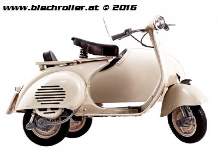 Modell Vespa 150 VL1T mit Seitenwagen/Beiwagen