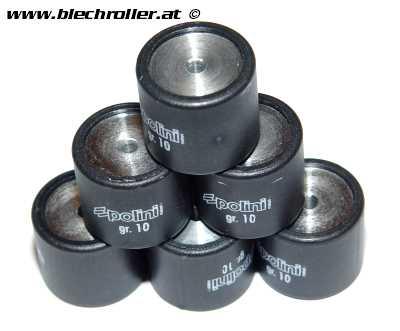 Variatorrollen POLINI 19x17 mm 10,0g für GILERA/PIAGGIO Hexagon 125-180/Skipper 125-150/TPH 125/Runner 125-180