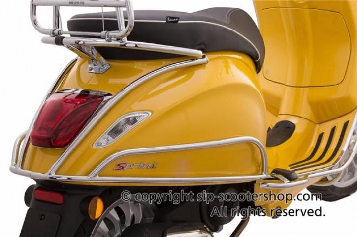 Sturzbügel Seitenhaube hinten PIAGGIO für Vespa Primavera/Sprint 50-150ccm - Chrom
